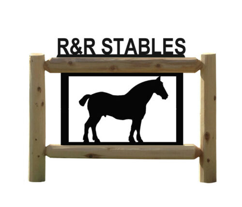 DRAFT HORSE PERSONALIZED SIGN