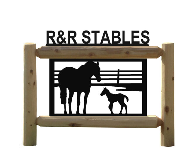 HORSE SIGN - HORSES - CLINGERMANS OUTDOOR SIGNS - EQUESTRIAN GIFTS - SADDLES