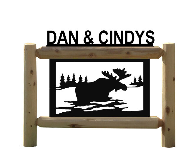 MOOSE SIGN - CLINGERMANS OUTDOOR SIGNS