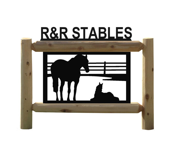 HORSES - OUTDOOR HORSE SIGNS