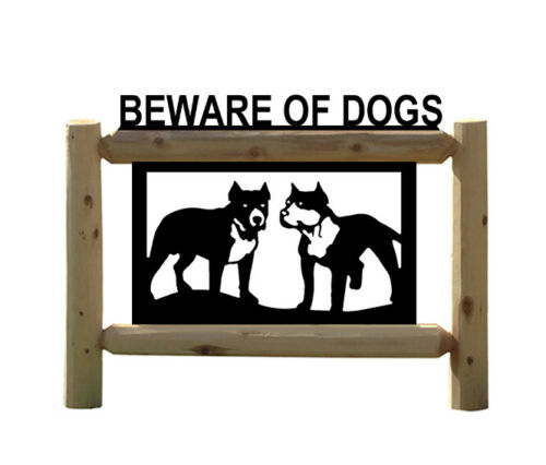 PIT BULL BEWARE OF DOG SIGN
