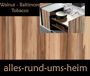 klebefolie walnuss baltimore tobacco holz folie selbstklebend m bel neu. Black Bedroom Furniture Sets. Home Design Ideas