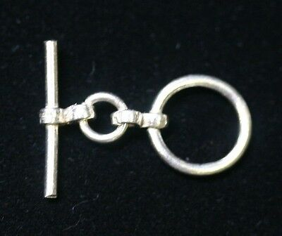 12mm Solid 925 Sterling Silver Ring Bar Toggle Clasp Small Clasp Jewelry 12 Sterling Silver Toggle Clasp