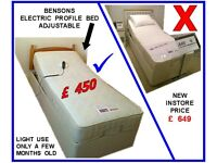 Bed ~ Single Adjustable Profile Bed ~ Electric