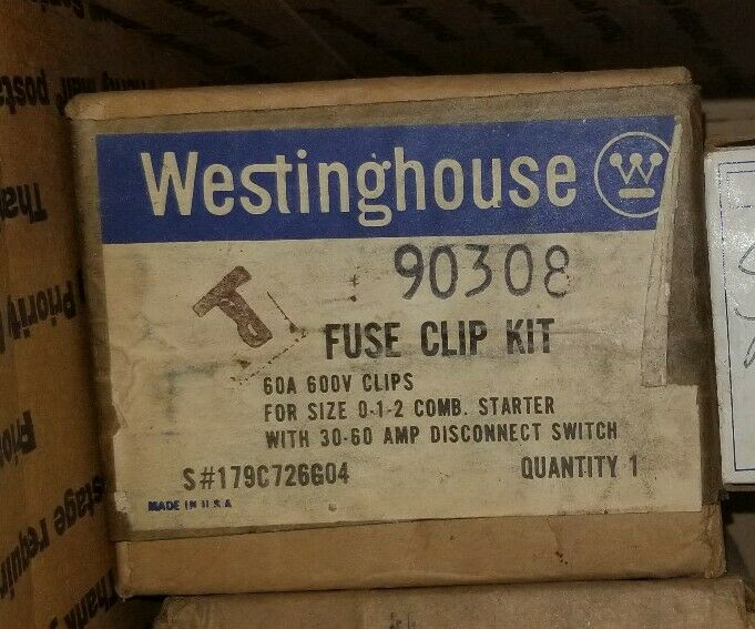 WESTINGHOUSE 179C726G04 FUSE CLIP KIT SIZE 0-1-2 60 AMP 600V WITH 30-60 SWITCH