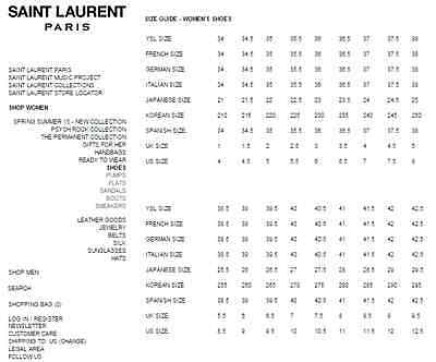 christian louboutin shoes sizing