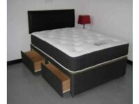 ⭐🆕UNBEATABLE PRICES LUXURY DIVAN BED BASES IN ALL SIZES & COLORS READY TO GO WITH MATTRESSES