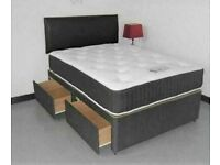 ⭐🆕MEGA SALE LUXURY DIVAN BED BASES - SINGLE, DOUBLE, KINGSIZE WITH CHOICE OF MATTRESS