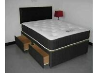 ⭐🆕MEGA SALE LUXURY DIVAN BED BASES WITH CHOICE OF MATTRESSES IN SINGLE DOUBLE KING SIZE