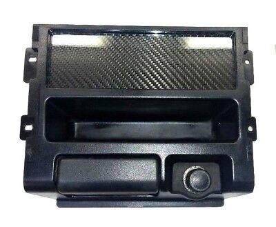 Carbon Fiber Radio Plate - CARBON FIBER Single DIN Radio Stereo Console Off Plate Delete for Honda CRX 88-9