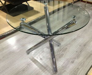 Dining, Kitchen glass  round Table,new / open box
