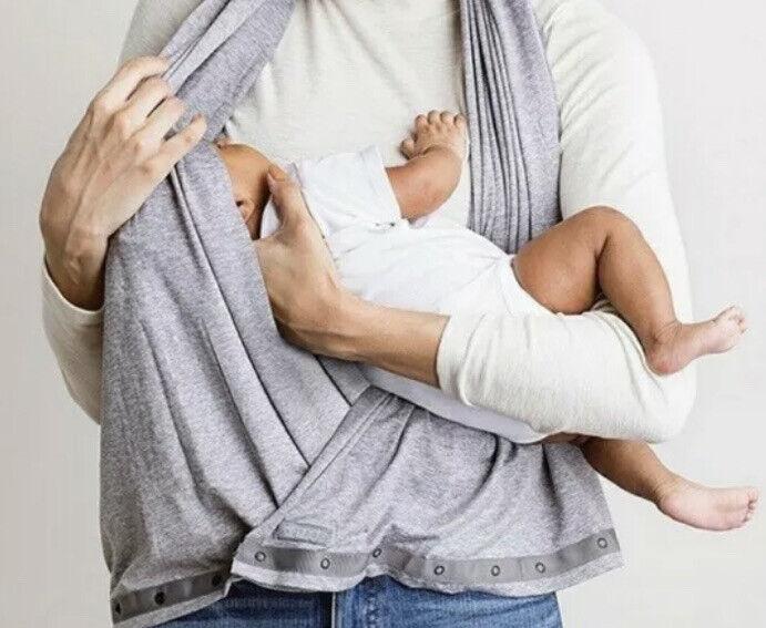 Nuroo Nursing Scarf Gray Infinity Cover Up Breastfeeding Convertible Snaps