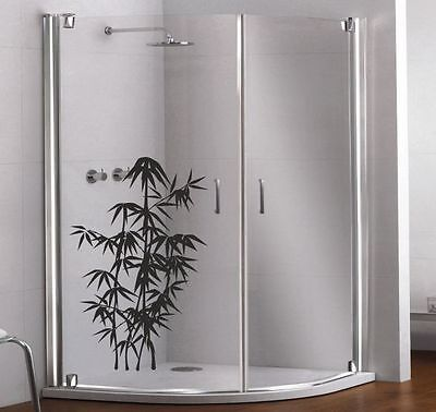 Glas Dekor Aufkleber Fenster Dusche Bad Tattoo  Asia Bambus Baum   26