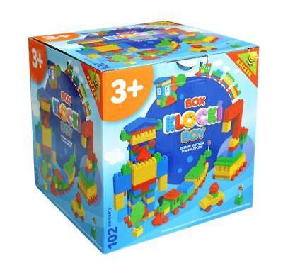 Steckbausteine Bauklötzchen Kinder Set BoxBausteine Geschenk für Jungen 102tlg