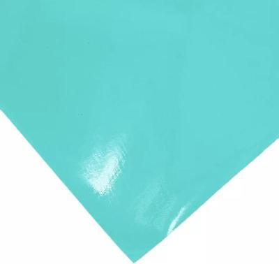 Turquoise Vinyl - Turquoise green shiny pleather faux leather sheet vinyl fabric full or 1/2 sheet