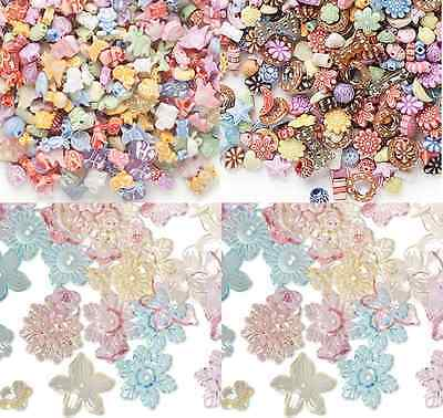 Bead Mix Acrylic Plastic Kids Flower Moon Star Animal Fish Pony Round, 100 Qty](Plastic Star Beads)