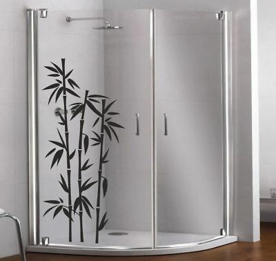 Glas Dekor Aufkleber Fenster Dusche Bad Tattoo  Asia Bambus Bamboo Baum 106