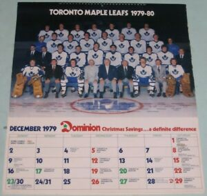 Toronto Maple Leads 1979-80 Calendar