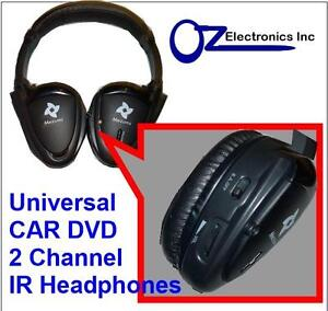 UNIVERSAL IR Infrared Headphones compatible with Alpine CAR DVD players NEW