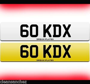 GO KDX cheap 5-digit dateless number plate personal private 60 K D KD 6 OKD X