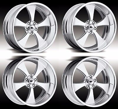 """20"""" PRO WHEELS FORGED BILLET WHEELS JET V INTRO FOOSE US MAGS MUSCLE CAR HOT ROD"""