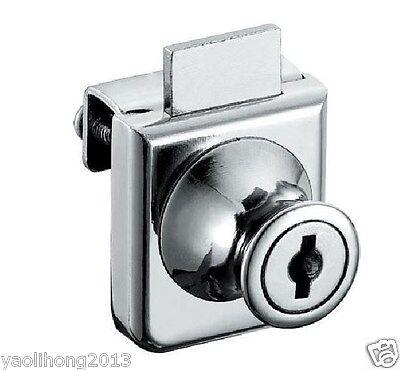 2pcs Cabinet Display Case Showcase Single Glass Door Lock