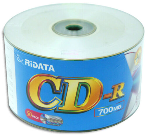 100-Pak Ridata 80-Min 40X DIGITAL-AUDIO CDR-DA Logo-top CD-R