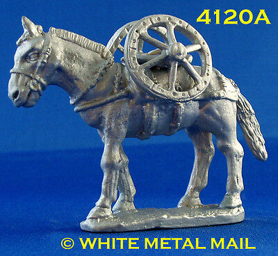 Military Lead Casting 4120A 54mm Battery Team – Mule & Cannon Wheels
