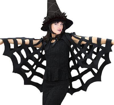 Spinnen Kostüm Damen Spinnennetz Spinnenfrau Spider Umhang Hallloweenkostüm - Spinnennetz Hexe Kostüme