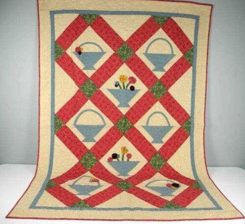 "Beautiful Handmade Quilt  66"" x 46"" Made in Wisconsin 2012"