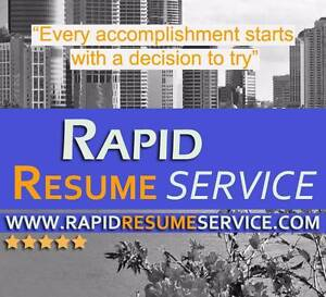 RAPID RESUME SERVICE Fortitude Valley Brisbane North East Preview
