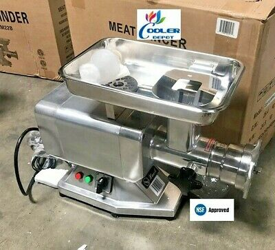 Nsf Commercial Electric Meat Grinder Stainless Steel 1.5hp Counter Top Etl