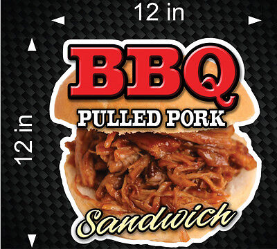12 Bbq Pulled Pork Sandwich Food Cart Restaurant Concession Stand Digital Decal