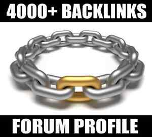 4000+ Backlinks Forum profile VERIFIED Best SEO SERVICE - CHEAPEST !! ON SALE