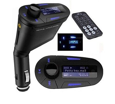 Wireless FM Transmitter Modulator USB SD MMC LCD With Remote Car Kit MP3 Player  on Rummage
