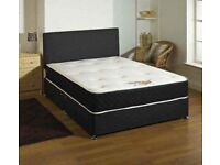 NEW KINGSTON DOUBLE DIVAN BED WITH MATTRESS IN ALL SIZES