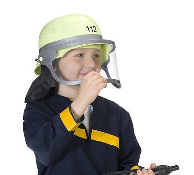 Feuerwehrhelm mit Visier gelb Spielzeughelm Feuerwehrmann Kostüm Helm - Feuerwehrmann Kostüm Accessoires