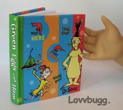 "Lovvbugg Mini Dr. Seuss Green Eggs n Ham Book for 18"" American Girl Doll Accessory"