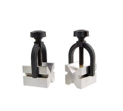 2 X 1.6 X 1.6 Stainless Steel V-blocks Clamps Set 3402-0943