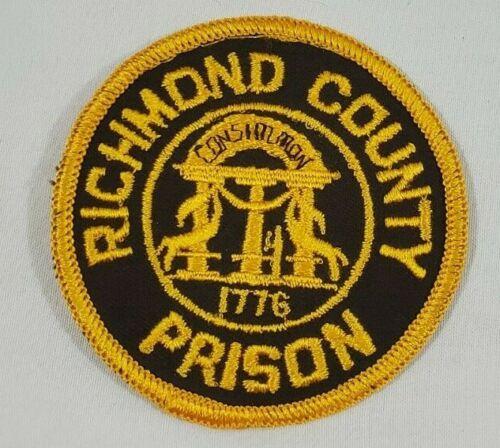 RICHMOND COUNTY GEORGIA GA PRISON DOJ GUARD JAIL POLICE SHOULDER PATCH