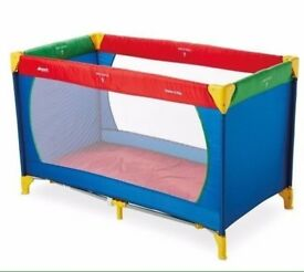 HAUCK Dream & Play Travel Cot - Red Blue Green Yellow