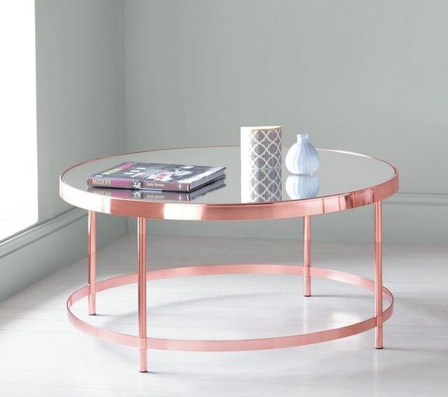 Collection Round Mirrored Top Coffee Table Copper Plated From Argos In Beckenham London Gumtree