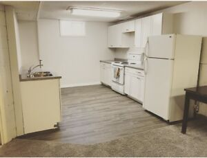 Newly renovated one bedroom  basement suite in Westwood area.