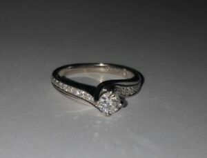 White Gold Diamond Ring 18K - Wedding Ring