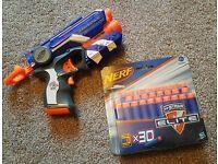 NERF firestrike gun and foam bullets
