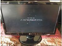 "LG 20"" flatscreen PC monitor"