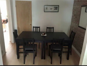 Ikea extendable table with chairs $100