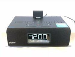 iHome iD50 iPod IPhone Bluetooth Clock AM/FM Radio Alarm Stereo Speaker WORKS!