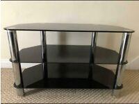 TV Stand Glass Black L80cm W42.5cm H50cm