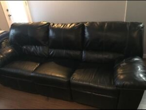 Reclining Couch , love seat and chair - prices for a quick sale